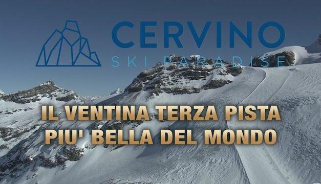 Breuil-Cervinia Il Ventina terza pista più bella del mondo