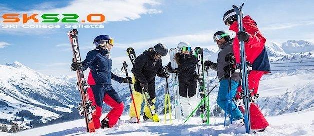 Ski College Selletta 12° Red&White