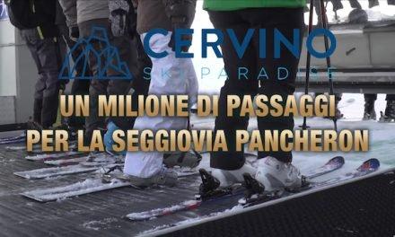 Breuil-Cervinia – Un milione di passaggi per la seggiovia Pancheron